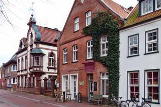 Kleine Läden in der Innenstadt von Aurich