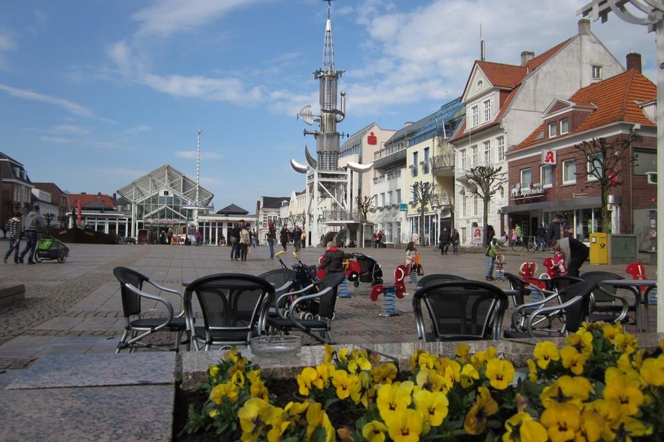 Marktplatz in der Stadt Aurich