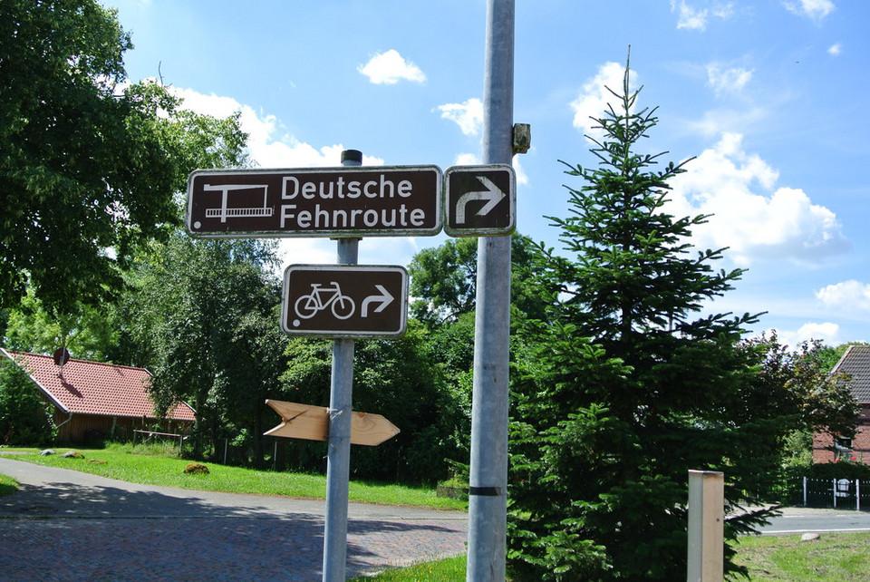 Wegweiser Deutsche Fehnroute