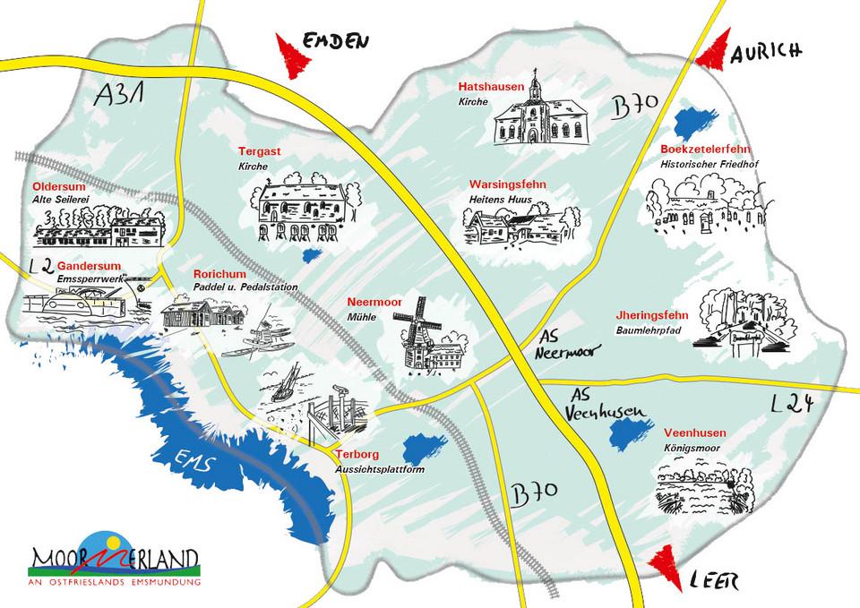 [Translate to Niederländisch:] POI Karte Moormerland